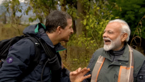 bear grylls and modi meme